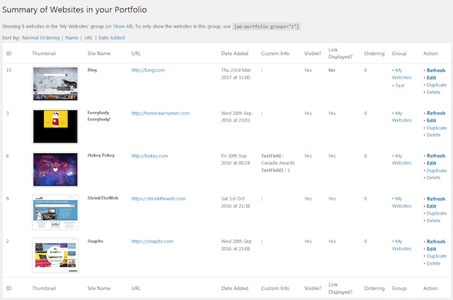 WordPress portföy eklentisi WordPress Portfolio Plugin