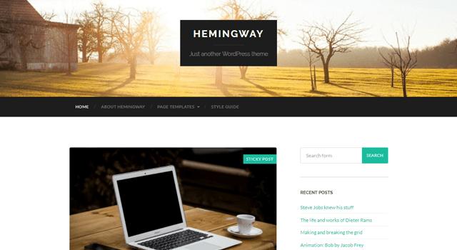 wordpress tema hemingway