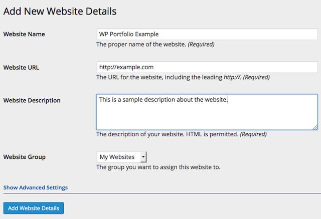 WordPress portfolyo eklentisi WordPress Portfolio Plugin örnek