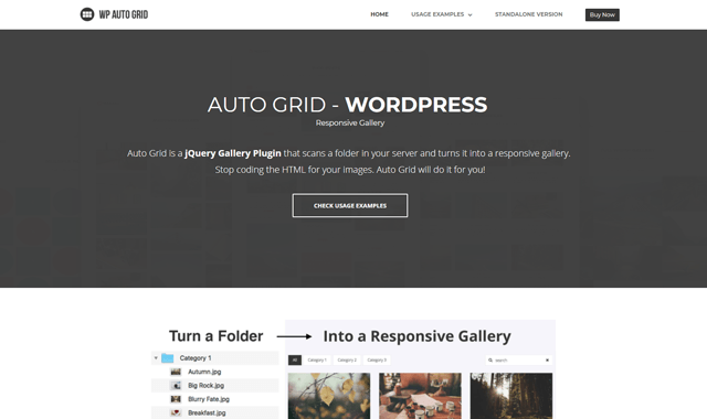WordPress portfolyo eklentisi WP Auto Grid