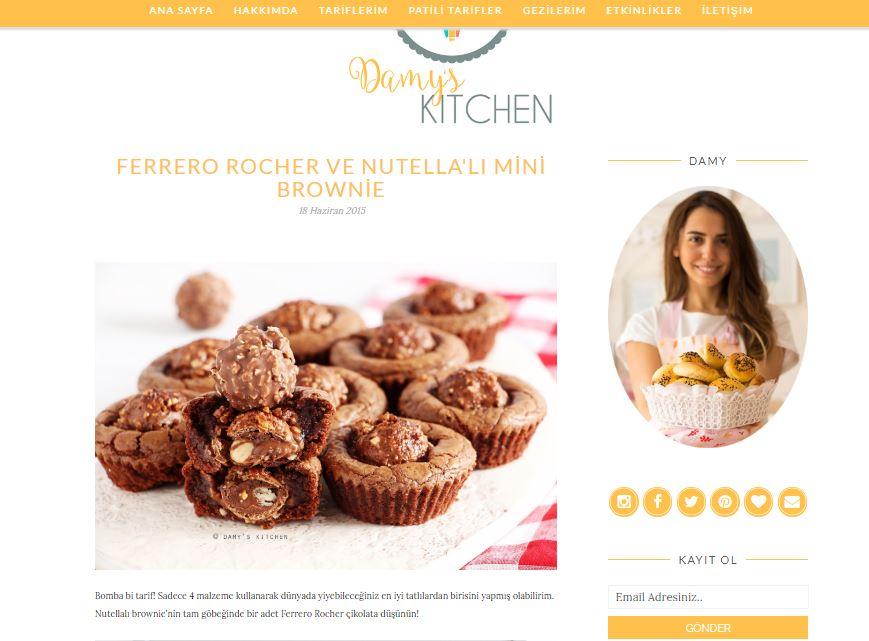 yemek blogları brownie tarifi damys kitchen